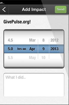 GivePulse - Mobile Track, Log or Add your Time